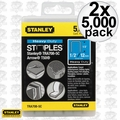 "Stanley TRA708-5C 2x Box of 5000 1/2"" Heavy Duty Narrow Crown Staples"