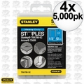 "Stanley TRA708-5C 4x Box of 5000 1/2"" Heavy Duty Narrow Crown Staples"