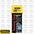 "Stanley TRA708SST 1/2"" Stainless Steel Narrow Crown Staples"