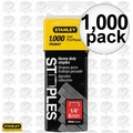 "Stanley TRC604T 1000pk 1/4"" Wide Crown Heavy Duty Staples"