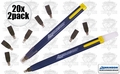 Swanson CP216 20pk Always Sharp Refillable Carpenters Pencils
