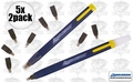Swanson CP216 5pk Always Sharp Refillable Carpenters Pencils 'Flat Type'
