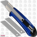 Tajima AC-700B Blue Rock Hard Aluminist knife Auto Lock + 3 Rock Hard blades