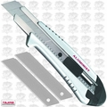 Tajima AC-700S Silver Rock Hard Aluminist knife, Auto Lock with 3 Blades