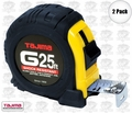 "Tajima G-25BW 1"" x 25"" Shock Resistant Tape Measure"