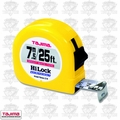 Tajima HL-25-7.5MBW 25'' 7.7M Metric & Inches Measuring Tape