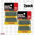 "Tajima PL-ITOL 2pk 100 ft .04"" Bold Braided Replacement Chalk Line"