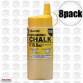 Tajima PLC2-Y300 8pk 10.5oz 300g Micro Powder Ultra Fine Line Chalk Yellow