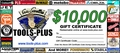 Tools Plus  $10,000 Gift Certificate