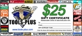 Tools Plus  $25 Gift Certificate