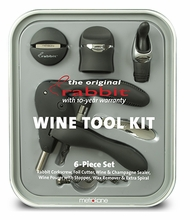 6 Piece Metrokane Rabbit Wine Tool Kit