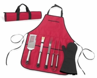 B.B.Q. Chef's Barbecue Apron and Tools