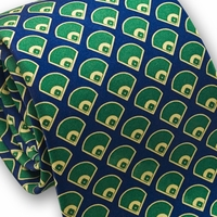 Baseball Field Silk Necktie