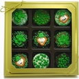 Belgian Chocolate St. Patrick's Day Oreos�- Gold Box of 9