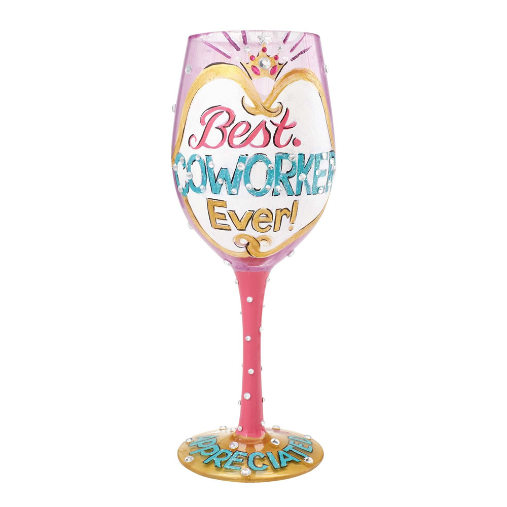 Best Coworker Ever Wine Glass by Lolita®