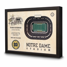 College Stadiums 3-D Handcrafted Wall Art