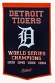 Detroit Tigers Vintage Wool Dynasty Banner With Cafe Rod