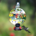 Dew-Drop Carnival Glass  Hummingbird Feeder