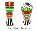 Football Hand Painted Reverz-Art Pilsner Glass