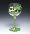 Get Lucky St. Patrick's Day Shamrock  Wine Glass