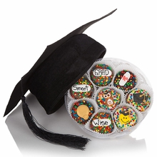 Graduation Cap and Wheel of 16 Oreos
