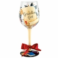 Graduation Girl Wine Glass by Lolita�