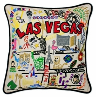 Hand Embroidered CatStudio City Pillows
