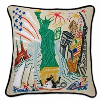 Hand Embroidered CatStudio Icon Pillows