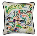 Hand Embroidered CatStudio Ireland Pillow