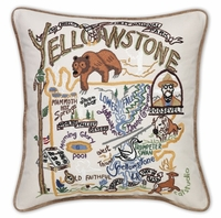 Hand Embroidered CatStudio National Park Pillows