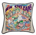 Hand Embroidered CatStudio New Orleans Pillow