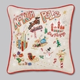 Hand Embroidered CatStudio North Pole Pillow