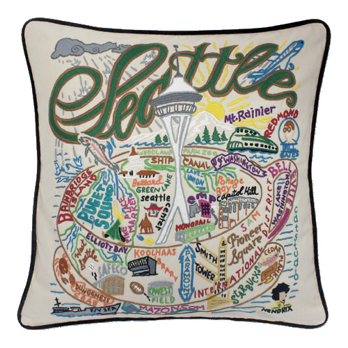 catstudio city pillows hand embroidered catstudio seattle pillow