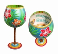 Happily Retired Hand Painted Reverz-Art Wine Glass