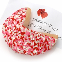 Heart Sprinkles Personalized  Giant Fortune Cookie