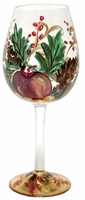 Holiday Berry Red Wine Glass by  Tre Sorelle