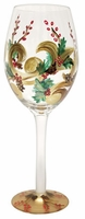 Holiday Berry White Wine Glass by Tre Sorelle