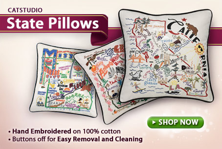 Hand Embroidered Pillows by CatStudio