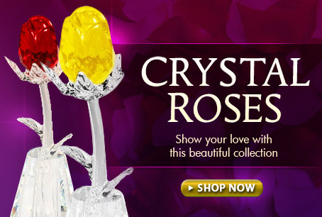 Crystal and Preserved Roses