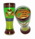 Irish Hand Painted Reverz-Art Pilsner Glass