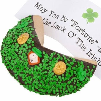 Lady Fortunes® Saint Patrick's Day Personalized Giant Fortune Cookie