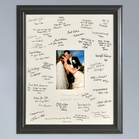 Laser Etched Wedding Wishes Signature Picture Frame