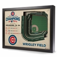 LIMITED EDITION: Chicago Cubs World Series Wrigley Field Stadium 3D View Wall Art
