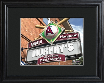 Los Angeles Angels Personalized Tavern Sign Print with Matted Frame