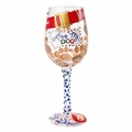 Love My Dog Wine Glass by Lolita�