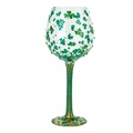 Luck of the Irish Super Bling Wine Glass by Lolita�