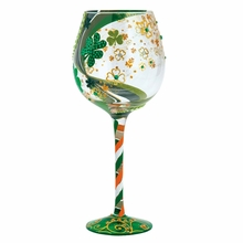 Lucky Me Super Bling Wine Glass by Lolita�