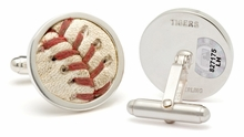 Major League Baseball Authenticated Game Used Baseball Stitches Cuff Links