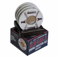 Major League Baseball Licensed Game Used Infield Dirt Coasters - Set of 4