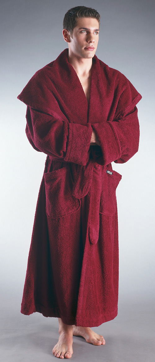 Men S Luxury Monk Style Full Length Hooded Bathrobe